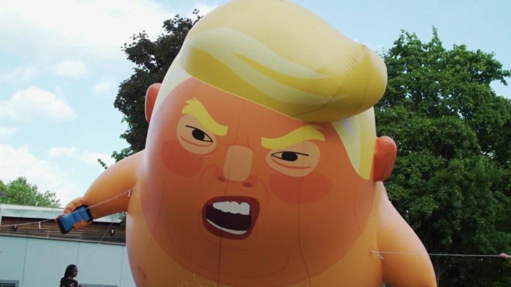 Globo Trump renace para visita del mandatario