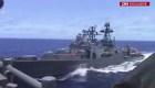 Dos buques de guerra de EE.UU. y Rusia casi chocan