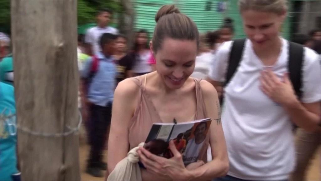 Angelina Jolie aboga por refugiados venezolanos