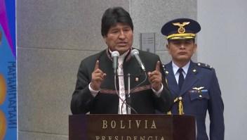 Protestan contra postulación de Evo Morales a cuarto mandato
