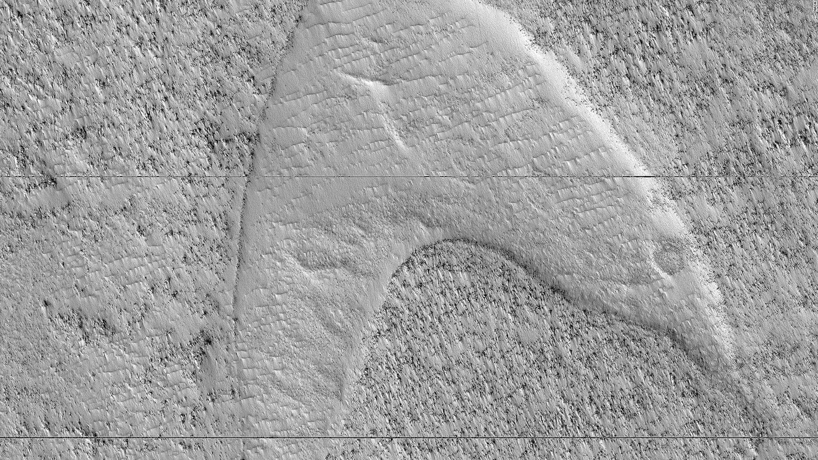 """La NASA detecta un símbolo de """"Star Trek"""" en Marte"""