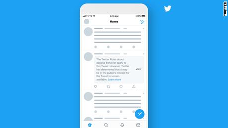 Twitter evalúa identificar tuits que violen sus reglas, incluidos los de Trump