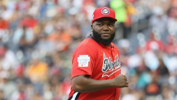 WASHINGTON, DC - JULY 15: Manager David Ortiz of the World Team looks on against the U.S. Team during the SiriusXM All-Star Futures Game at Nationals Park on July 15, 2018 in Washington, DC. (Photo by Rob Carr/Getty Images)