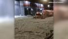 Tormenta de granizo en Guadalajara en México