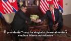 Trump elogia a líderes autoritarios