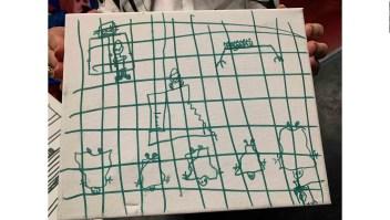 Esto dibujan los niños migrantes en los centro de detención