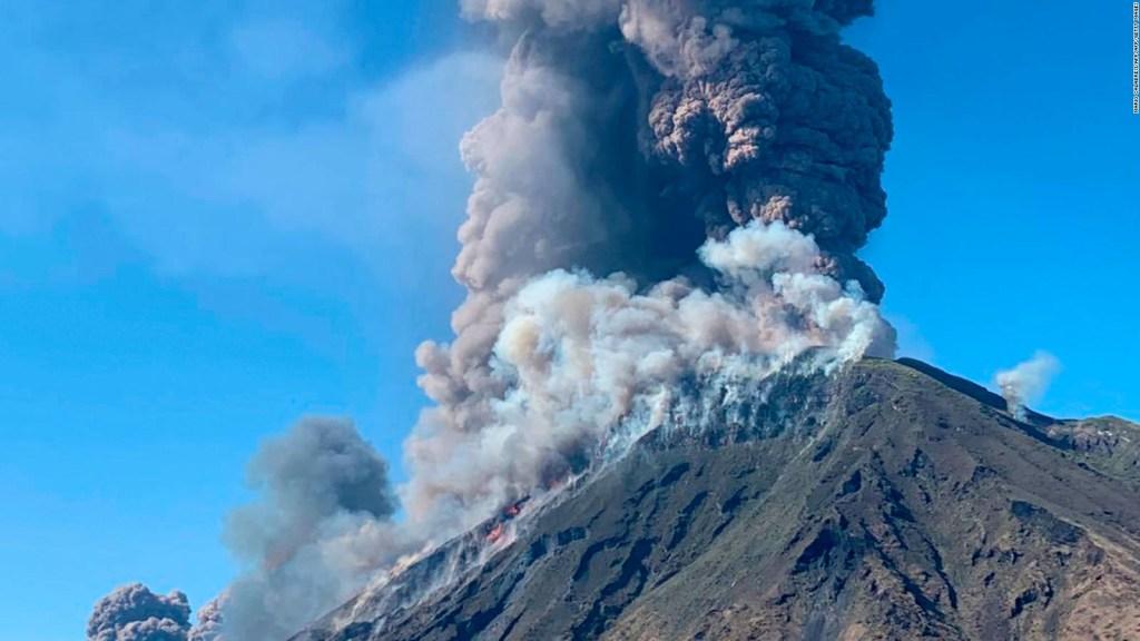 La furia del volcán Stromboli: hubo un muerto tras la erupción