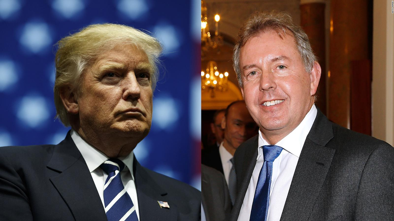 "Embajador de Reino Unido tilda de ""inepto"" a Trump"