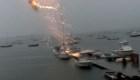 Video captura el impacto de un rayo en un velero
