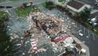 Una explosión dejó en escombros este restaurante