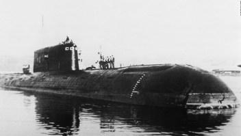 Hallan fuga radioactiva en un submarino hundido