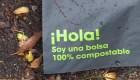 Esta bolsa no contamina y se convierte en compost