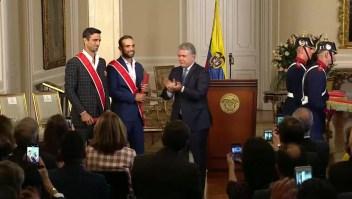 Gobierno de Colombia homenajea a los campeones de Wimbledon