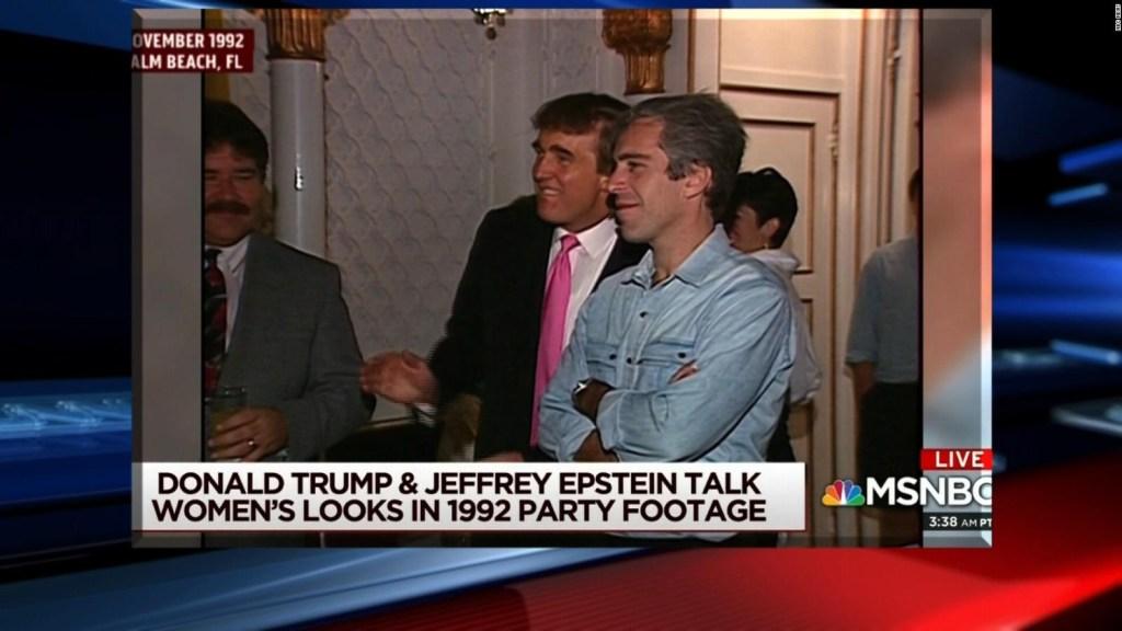 Trump y Epstein estuvieron juntos en una fiesta en 1992