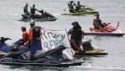Una protesta acuática contra Rosselló