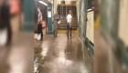La lluvia se coló en el metro de Nueva York