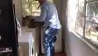 Así atraparon a un leopardo en una casa de Sudáfrica
