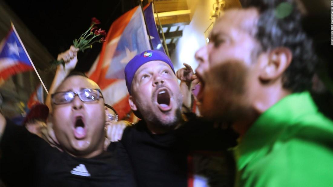 Rosselló renuncia: así estalló el júbilo en Puerto Rico