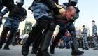 Arresto masivo de manifestantes en Moscú