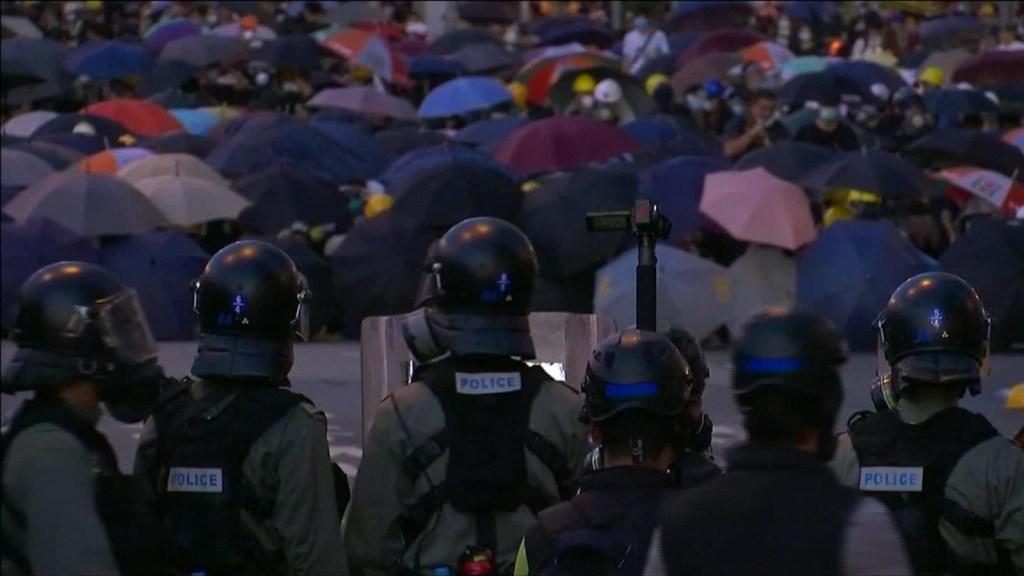 Batalla campal en Hong Kong