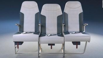 Diseño asiento mitad aviones