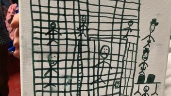 dibujos de niños detenidos en los centros de la patrulla fronteriza