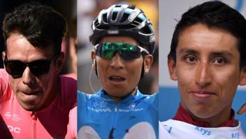 Rigoberto Urán, Nairo Quintana, Egan Bernal