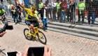 Así recibieron al ciclista Egan Bernal en su pueblo