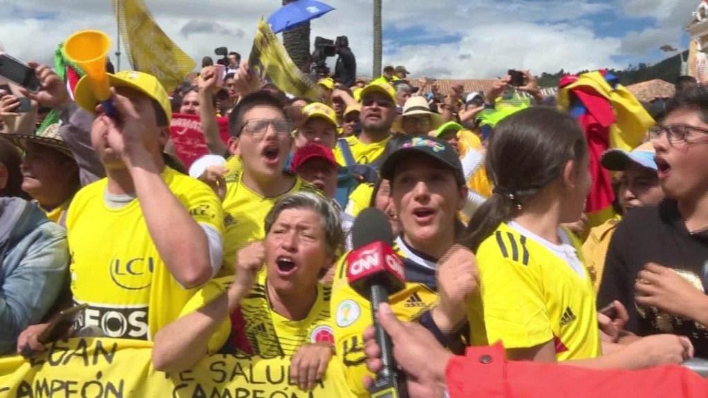 Egan Bernal, recibido como un héroe en Colombia