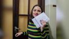 Precandidata argentina vota por primera vez