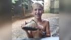 Niño descubre diente fosilizado de mamut