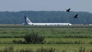 Bandada de pájaros provoca aterrizaje de emergencia