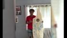 Así quedó la tabla de surf de este joven
