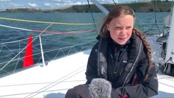 Greta Thunberg busca atravesar el Atlántico en un velero