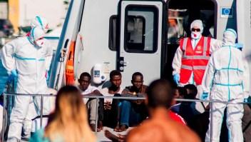 Desembarco de migrantes menores de edad