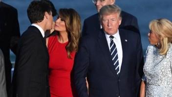 El beso entre Melania y Trudeau se vuelve viral