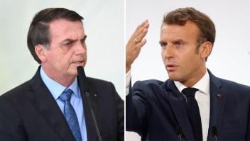 Crece la tensión entre Bolsonaro y Macron