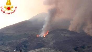 Así hizo erupción un volcán en Italia