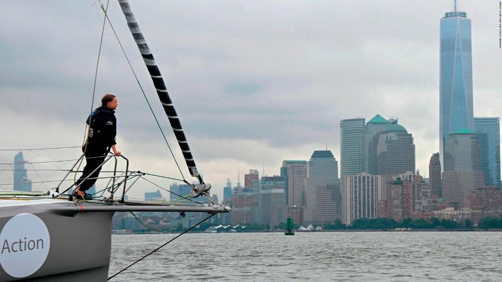 Activista cruza el Atlántico en barco ecológico