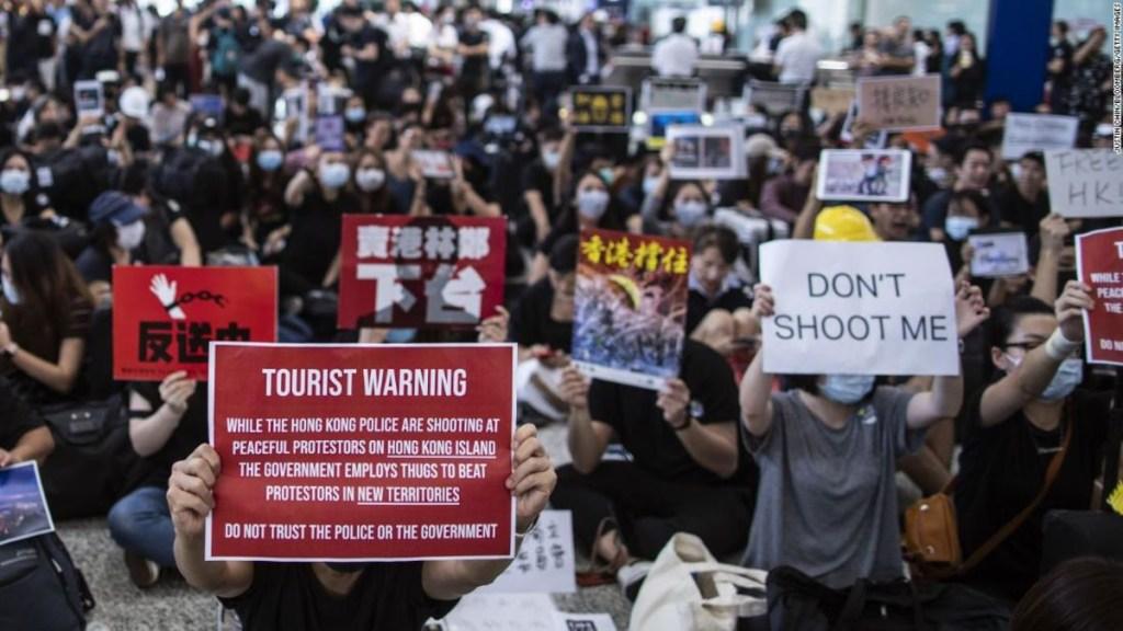 Visitar Hong Kong en protestas