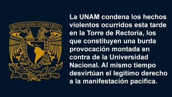 Protesta en la UNAM termina en violencia