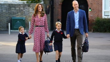 La princesa Carlota tiene su primer día de clases