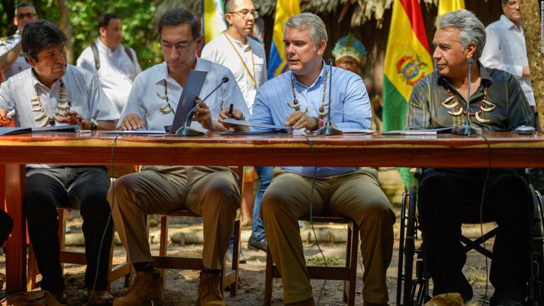Duque firma el Pacto de Leticia por la Amazonía