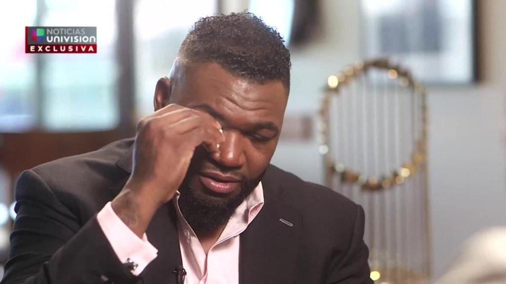 Con lágrimas en los ojos David Ortiz habla tras el ataque