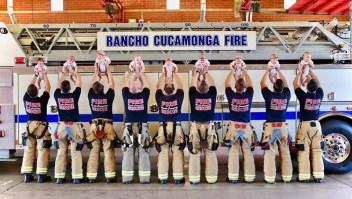 Nueve bebés nuevos en este departamento de bomberos