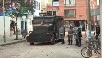 Disturbios en protesta estudiantil en Bogotá