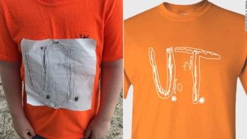 Camiseta Universidad Tennessee niño víctima de bullying más de 16.000 vendidas