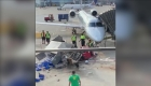 Carro de comida gira sin control en el aeropuerto de Chicago