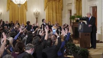 Cinco enfrentamientos de Trump con periodistas
