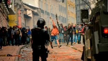Se intensifican protestas en Ecuador